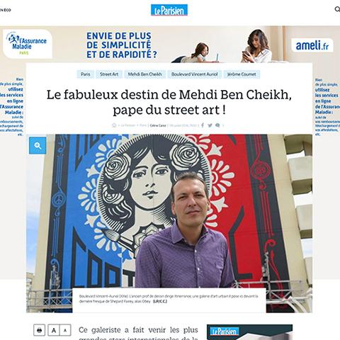 Le fabuleux destin de Mehdi Ben Cheikh, pape du street art !