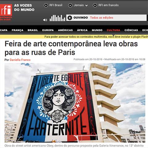 Feira de arte contemporânea leva obras para as ruas de Paris