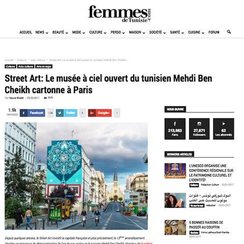 Street Art: Le musée à ciel ouvert du tunisien Mehdi Ben Cheikh cartonne à Paris