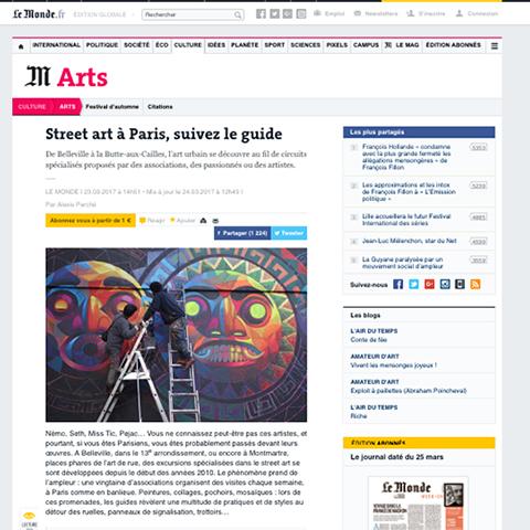 Street art à Paris, suivez le guide