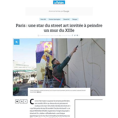Paris : une star du street art invitée à peindre un mur du XIIIe