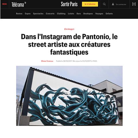 Dans l'Instagram de Pantónio, le street artiste aux créatures fantastiques