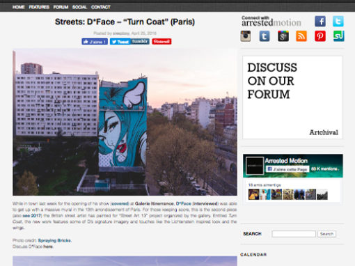 "Streets: D*Face – ""Turn Coat"" (Paris)"