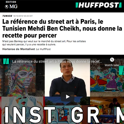 La référence du street art à Paris, le Tunisien Mehdi Ben Cheikh, nous donne la recette pour percer