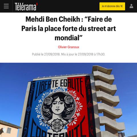 """Mehdi Ben Cheikh : """"Faire de Paris la place forte du street art mondial"""""""